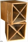 Adega rústica em madeira de demolição de 50 x 50 x 35 cod 01