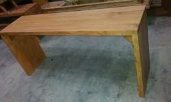 bancada de 1.70 x 45 x 80 de madeira maciça cod 21