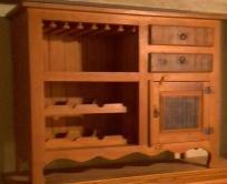 arcaz de 1,20 x 0,90 x 0,45 com adega com 2 gavetas e uma porta cod 14