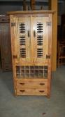 cod. 08-armario adega com 2 gavetas 1,80 x 0,90 com detalhes em ferro