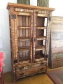 armário de 2 x 1 com 2 gavetas , com 3 prateleiras internas cod 50