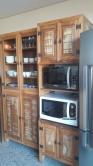 cristaleira 2,10 x 0,95 x 0,35  /  armário de forno e microondas 2,10 x 0,65 x 0,50 cod 77