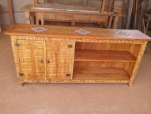 balcão de 2 x 90 x 40 com 2 portas com 2 prateleiras com vão aberto com ladrilho cod 06