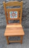 cadeira de peroba rosa com ladrilho padrão cod 09