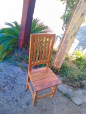 cadeira ripada alta em peroba rosa cod 15