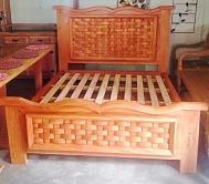 cod 10 cama tamanho queen modelo trançado de peroba rosa