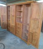 guarda roupa de 2,5 x 2 x 0,50 com 4 portas almofadadas de peroba rosa cod 06