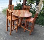 jogo de mesa redonda com 4 banquetas cod 12