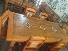 mesa de 2 x 1 com 02 gavetas com ladrilho padrão cod 09