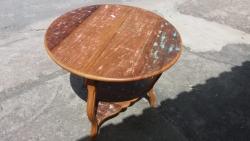 mesa redonda  de 80 x 80  cod 28