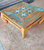 mesa de centro de 0,80 x 0,80 com ladrilho  cod 34