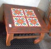 mesa de centro de 0,60 x 0,60 com ladrilho padrão cod 17