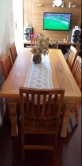 mesa de 1,80 x 0,90 em peroba rosa cod 70