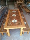 mesa de 1.85 x 0,80 com 03 ladrilhos cod 25