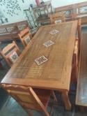 mesa de 2 x 1 com 2 gavetas com 3 ladrilhos padrão cod 27