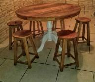 mesa redonda de 1,20 x 1,20 com pés laqueado cod 44