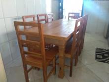 jogo de mesa de 2 x 80 com 8 cadeiras flor cod 53