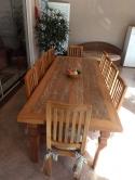 conjunto de mesa de 2,5 x 1 com 10 cadeiras cod 61
