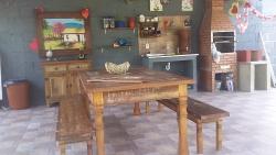 mesa de 2 x 1 com 2 bancos mineiros de 2 m cod 91