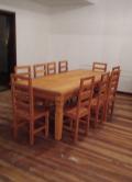 mesa de 2,5 x 1 em  peroba rosa cod 80