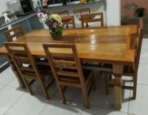 mesa de 2 x 1 com 6 cadeiras flor cod 82