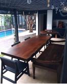 mesa de 3 x1 de madeira maciça cod 48