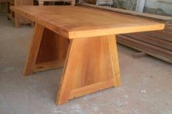 mesa de 1,50 x 0,85 pés em V fechado cod 41