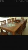 mesa de jantar de 2,5 x 1 com 12 ladrilhos cod 18