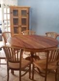 mesa redonda de 1,20 x 1,20 em peroba rosa cod 89