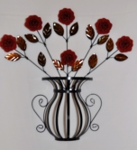 vaso com 6 rosas